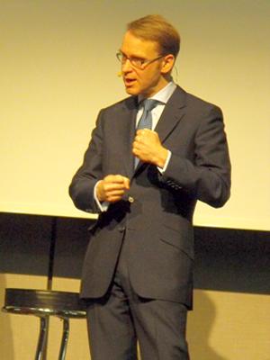 Bundesbank-Chef Jens Weidmann las den Wirtschaftsjournalisten in Köln die Leviten