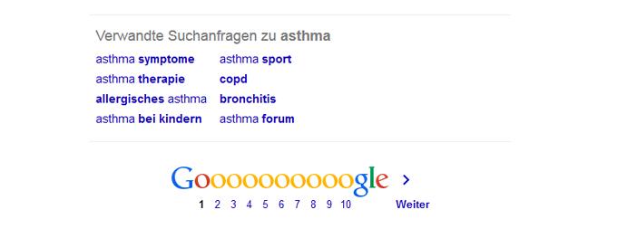 Abbildung 2: Verwandte Suchanfragen, Quelle: http://www.google.de