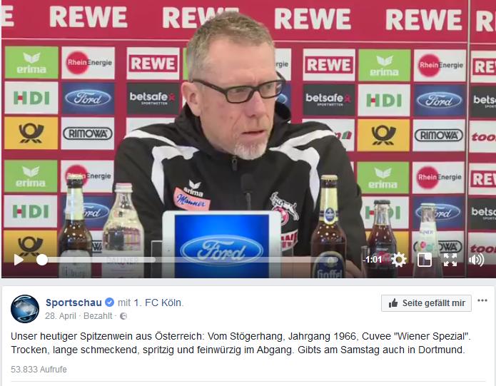 Mit Witz und Sprachgewandtheit wurde dieser Sportschau-Post unterhaltend aufbereitet.