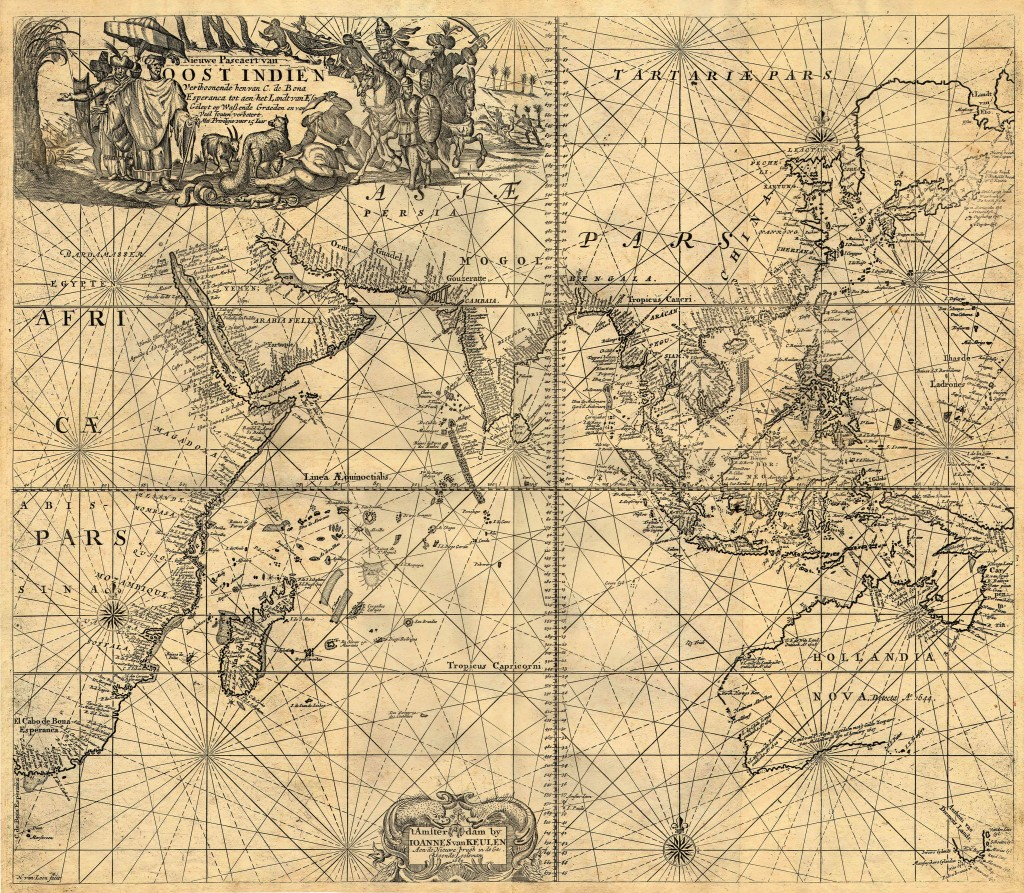Besitzungen der Niederländischen Ostindien-Kompanie im 17. Jahrhundert. Quelle: Academic