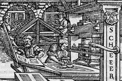 Von Mainz hinaus in die Welt: Die Druckkunst mit der Gutenberg´schen Druckpresse breitete sich im 15. und 16. Jahrhundert in ganz Europa aus. Quelle: Druckwerkstatt Schöffer/Gutenberg Museum Mainz